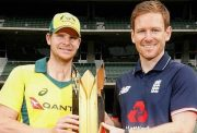 Steve Smith & Eoin Morgan Australia vs England