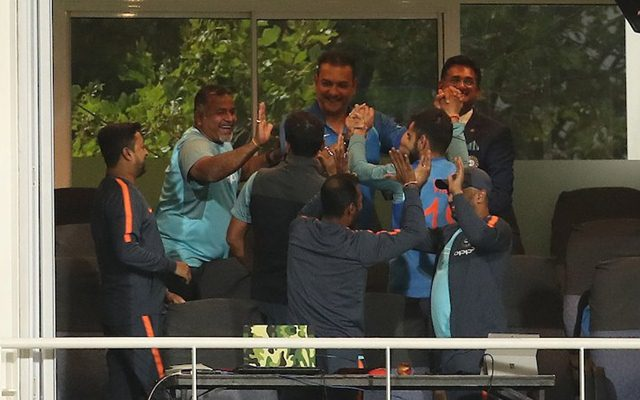 Celebrations started in the dressing room