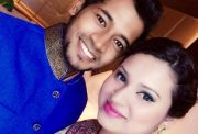 Mushfiqur Rahim with his wife