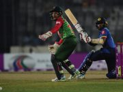 Sri Lanka cricketer Kusal Mendis and Bangladesh wicketkeeper Mushfiqur Rahim