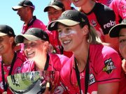 Alyssa Healy and Ellyse Perry of the Sixers
