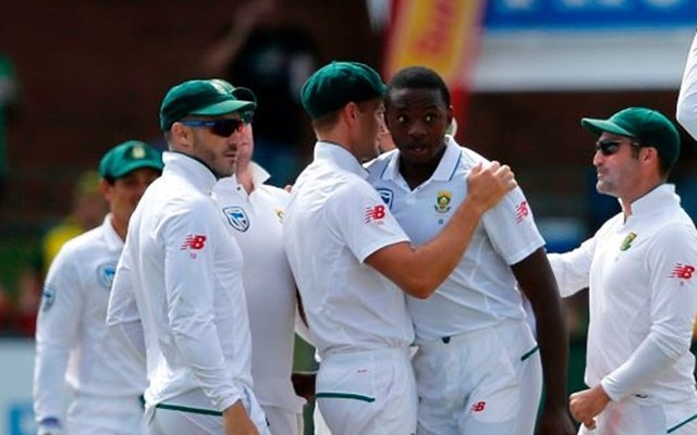 Kagiso Rabada delivers send-off to David Warner in the second Test