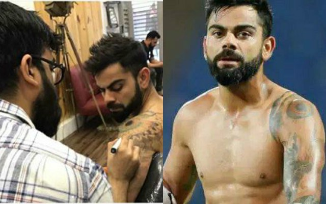 Virat Kohli S Love For Tattoos Resurfaces Spotted Being Inked Again