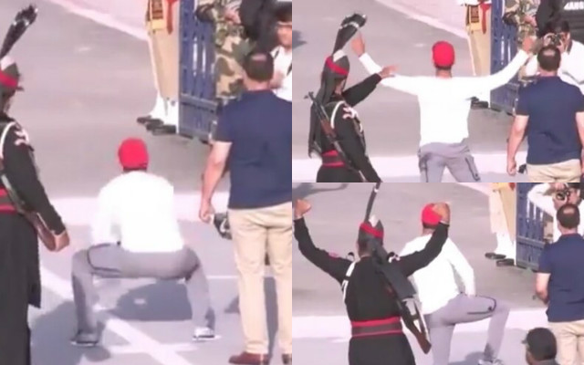 Row Over # 039 Pak Cricketer &;s Dance Near Wagah Border