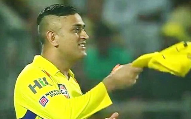 Chennai Super Kings version of 10-year challenge featuring MS Dhoni
