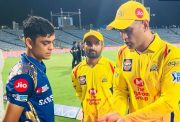 MS Dhoni giving some invaluable tips to Ishan Kishan