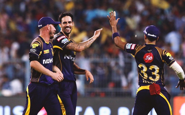 Image result for MITCHELL JOHNSON KKR ipl 2018