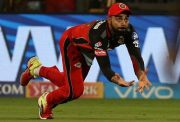 Virat Kohli takes a catch