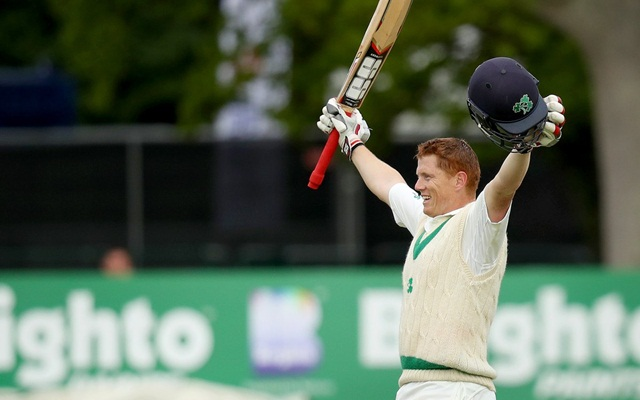 O'Brien hits historic first test century