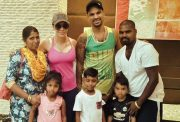 Shikhar Dhawan's family with his die-hard fan's family