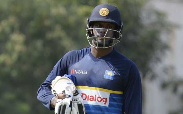Angelo Mathews and Lahiru Gamage take an early flight home