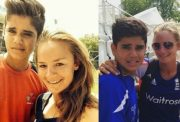 Danielle Wyatt and Arjun Tendulkar