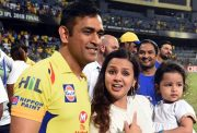 MS Dhoni and Sakshi Dhoni
