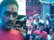 MS Dhoni visits the Durga temple at Deori after winning the IPL with CSK