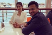 Shakib Al Hasan and his wife