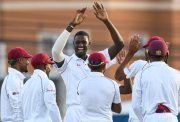Windies players celebrate