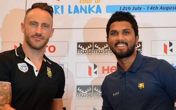 Faf du Plessis and Dinesh Chandimal