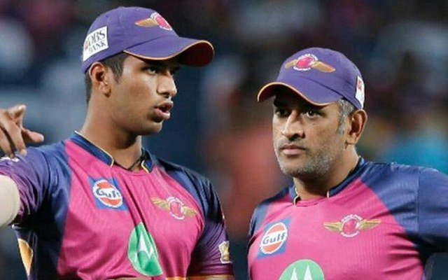 MS Dhoni and Washington Sundar