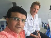 Sourav Ganguly with Mark Nicholas