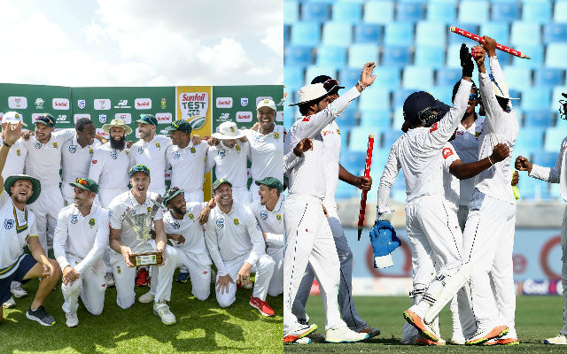 South Africa and Sri Lanka Test teams