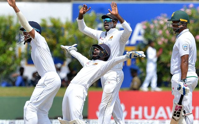 Maharaj magic restricts Sri Lanka to 277-9