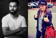 Virat Kohli and Danielle Wyatt