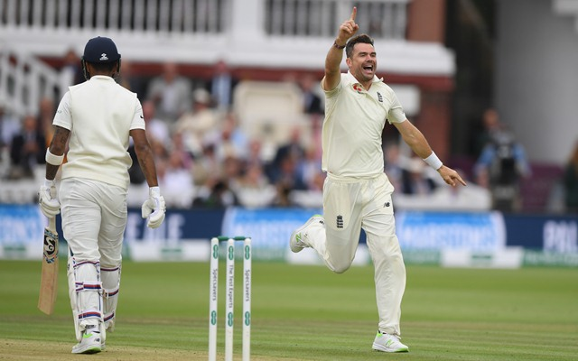 England's James Anderson becomes first to claim 100 Test wickets at Lord's