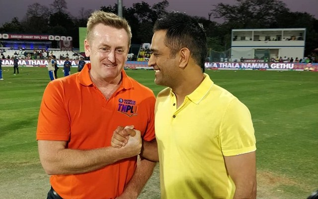 MS Dhoni & Scott Styris