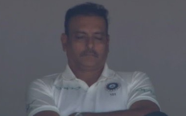 Ravi Shastri was caught napping the dressing room