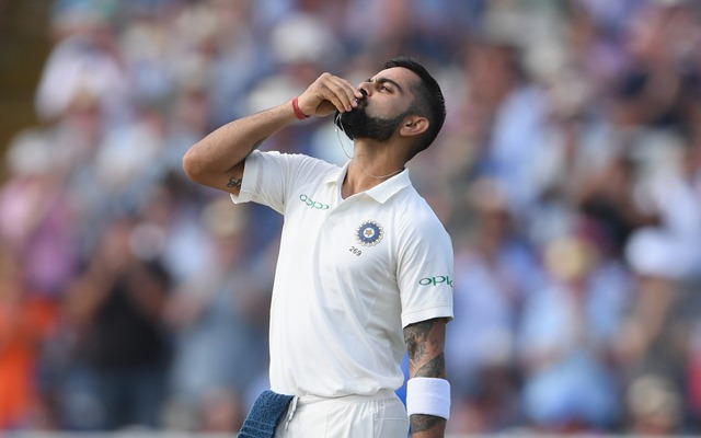 Kohli after registering his first Test in England. (Getty)