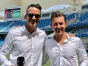 Kevin Pietersen and Brett Lee