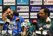 Rohit Sharma and Sarfraz Ahmed