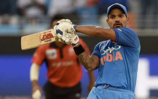 Shikhar Dhawan (127) scored his 14th ODI hundred against Hong Kong in Dubai (photo - getty)