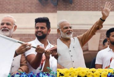 Suresh Raina and Narendra Modi