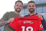 Virat Kohli was gifted a memorable customised Southampton FC jersey