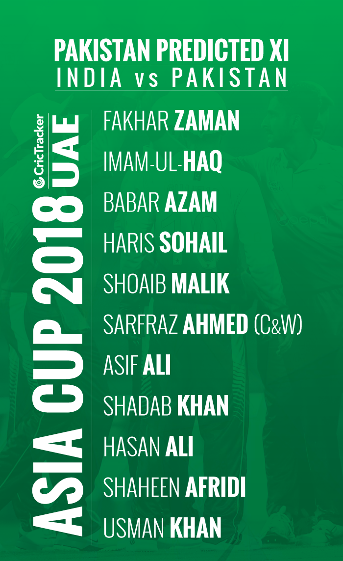 playing-xi-Pakistan-FOR-ASIA-CUP-2018-MATCH-BETWEEN-iNDIA-vs-Pakistan
