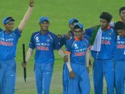 India U19 team members celebrate the victory. (Photo Source: Twitter)