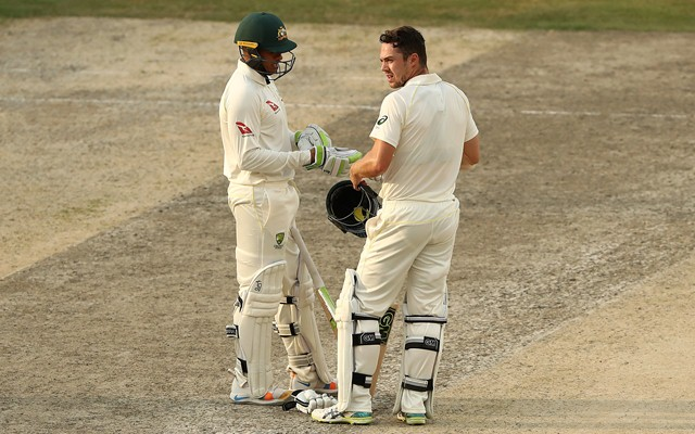 Usman Khawaja and Travis Head