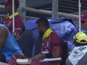 Windies cricketers wear armbands
