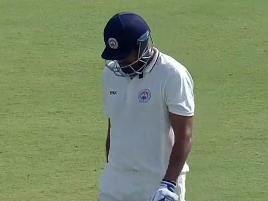 Yusuf Pathan walks back after getting out on 99