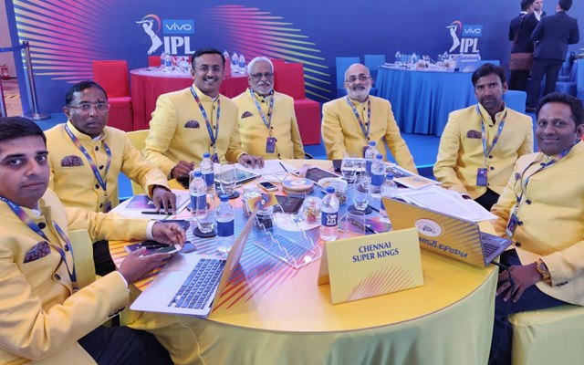 CSK auction table