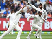 Virat Kohli and his Indian teammates celebrate