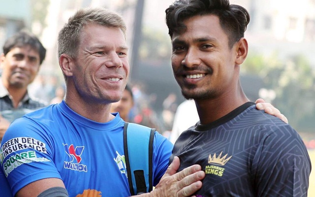 David Warner & Mustafizur Rahman