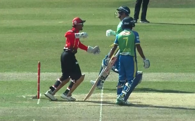 David Warner run-out