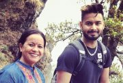 Rishabh Pant and his mother