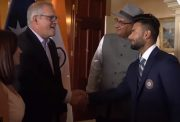 Rishabh Pant with Australian prime minister