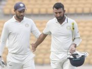 Sheldon Jackson and Cheteshwar Pujara