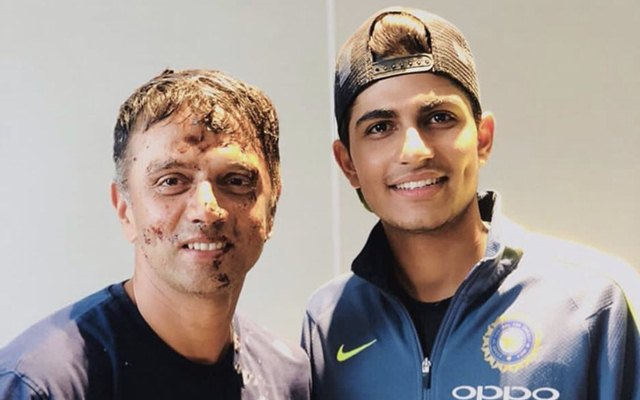 Shubman Gill and Rahul Dravid