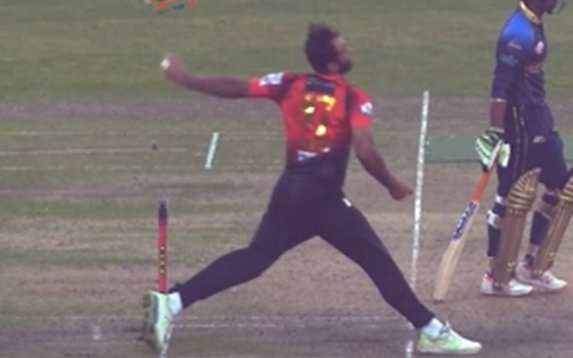 Wahab Riaz No-ball