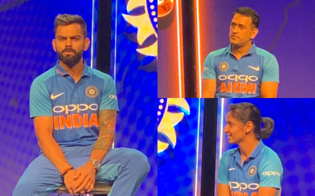 8434bba0ca2 Twitterati unhappy with Team India s new jersey for the 2019 World ...